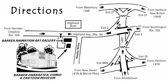 Directions to Barker Character Comic & Cartoon Museum